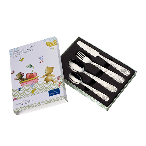 Hungry as a Bear Children cutlery set 4pcs 215x150x25mm, , large