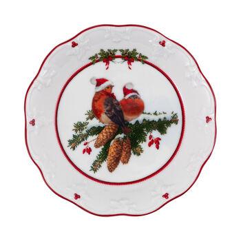 Toy's Fantasy small bowl birds, multicoloured/red/white, 17 x 17 x 3 cm