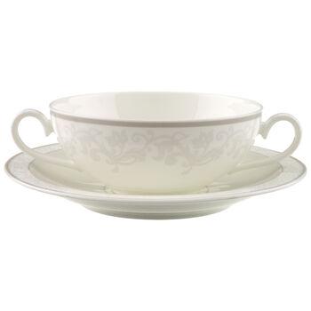 Gray Pearl Soup cup & saucer 2pcs