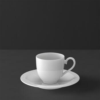White Pearl Espresso cup & saucer 2pcs