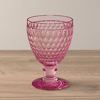Boston Coloured Water glass Pink
