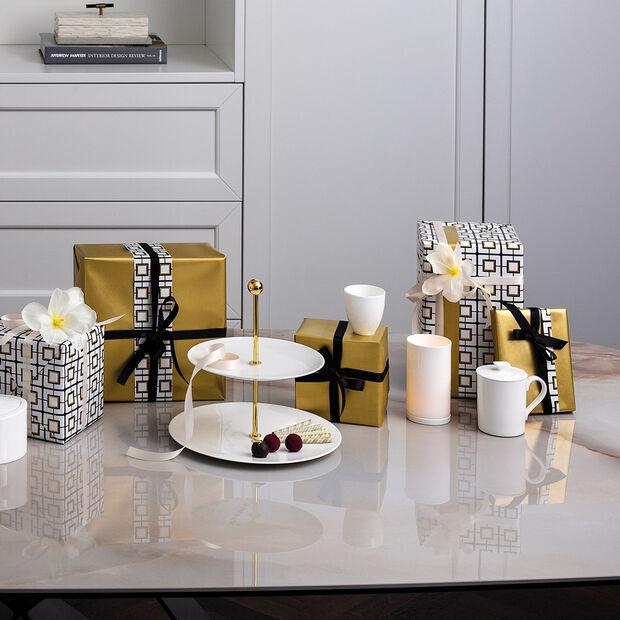 MetroChic blanc Gifts Tea light holder 7,5x7,5x13cm, , large