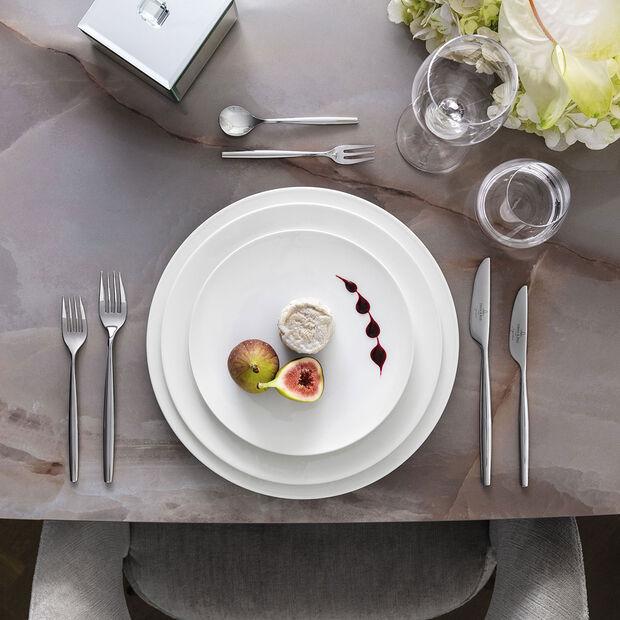 MetroChic blanc Dessert/breakfast plate 22x22x2cm, , large