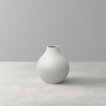 Manufacture Collier blanc Vase Perle small 11x11x12cm