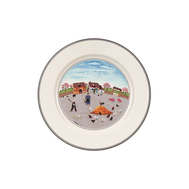 Design Naif breakfast plate Poultry farm, , large