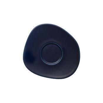 Organic Dark Blue coffee cup saucer, dark blue, 17.5 cm