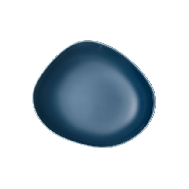Organic Turquoise Deep plate 20 x 18 x 5,5cm, , large