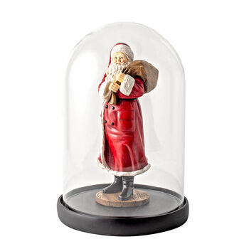 Winter Collage Accessoires Gloche Santa with bag and bear 10,2x10,2x26,4cm