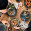 Crafted Denim dinner plate, blue, 26 cm, , large