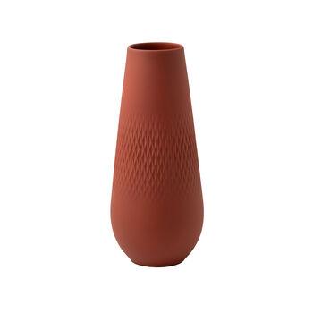 Manufacture Collier terre tall vase, Carré, 11.5 x 11.5 x 26 cm