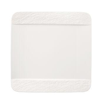 Manufacture Rock Blanc square dinner plate, white, 28 x 28 x 2 cm