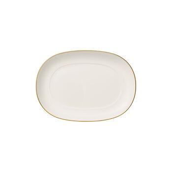 Anmut Gold sauce boat saucer, 20 cm, white/gold