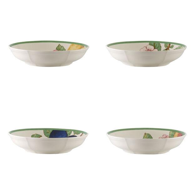 French Garden Modern Fruits flat bowl 4-piece set, , large