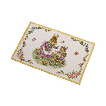 Spring Fantasy Gobelin placemat Bunny Family, 32 x 48 cm, multicoloured