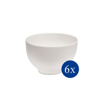 Basic White bowl set, 6 pieces EC