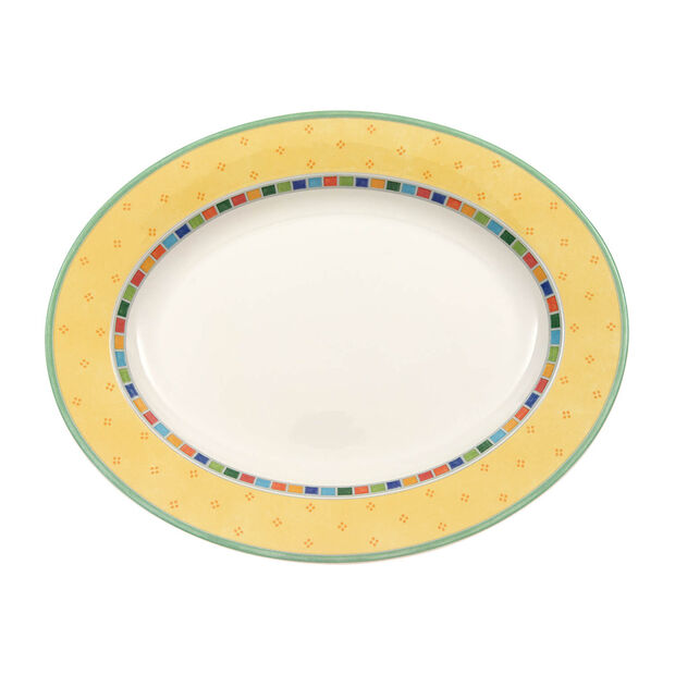 Twist Alea Limone oval plate 41 cm, , large