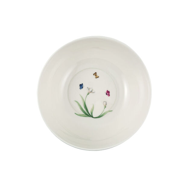 Colourful Spring small salad bowl, 2.5 l, white/green, , large