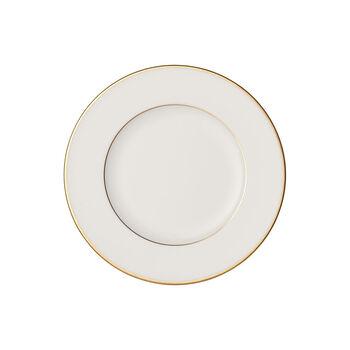 Anmut Gold bread plate, 16 cm diameter, white/gold