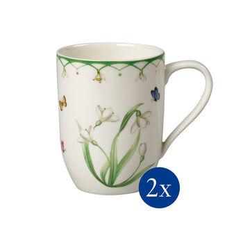 Colourful Spring coffee mug, 340 ml, 2 pieces