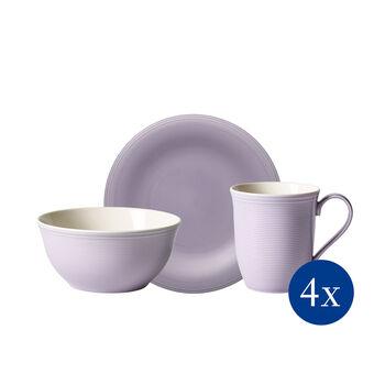 Color Loop Blueblossom breakfast set, blue, 12 pieces