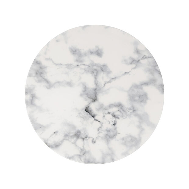 Marmory dinner plate white 27x27x1,5cm, , large