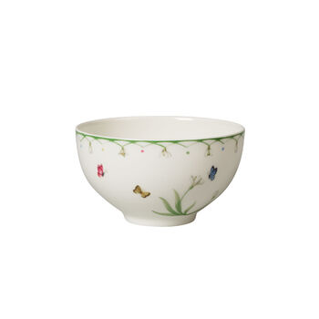 Colourful Spring large bowl, white/green