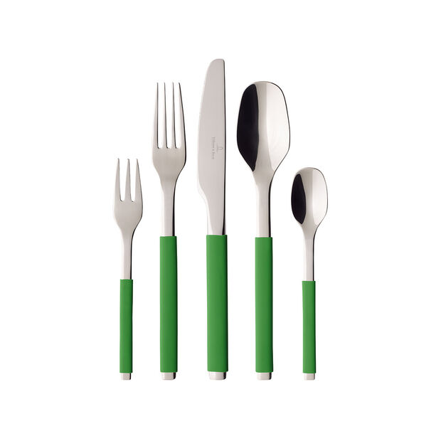 S+ Green Apple cutlery set 30 pieces, , large