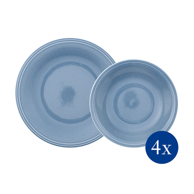 Color Loop Horizon dinner set, sky blue, 8 pieces, , large