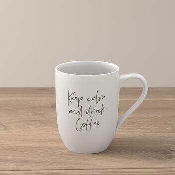 """Statement mug """"Keep calm and drink coffee"""""""