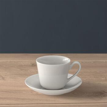 Twist White Espresso cup & saucer 2pcs
