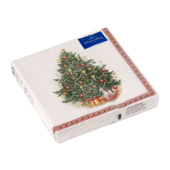 Winter Specials lunch napkin Christmas tree, green/multicoloured, 20 pieces, 33 x 33 cm