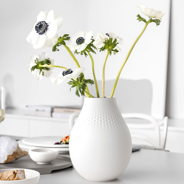 Manufacture Collier blanc Vase Perle tall 16x16x20cm, , large