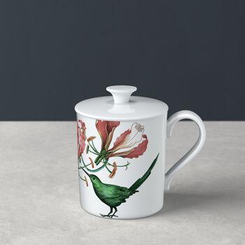 Avarua Gifts mug with lid, 300 ml, white/multicoloured
