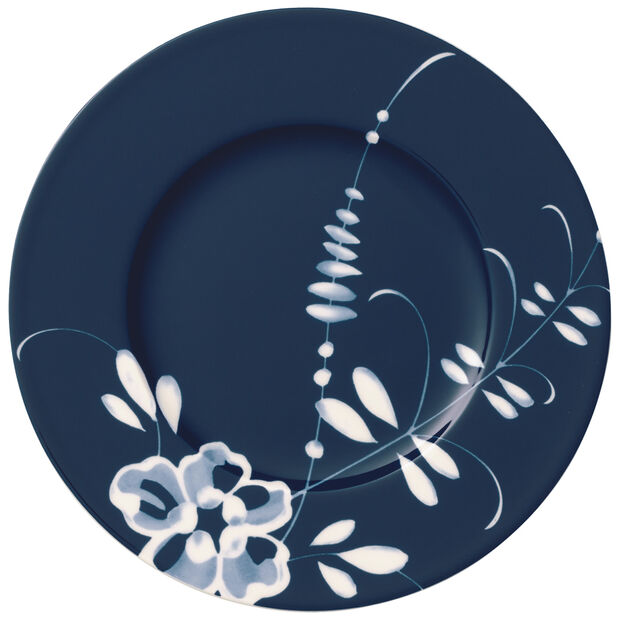 Old Luxembourg Brindille blue bread plate, , large