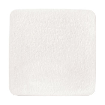 Manufacture Rock Blanc square serving/gourmet plate, white, 32.5 x 32.5 x 1.5 cm