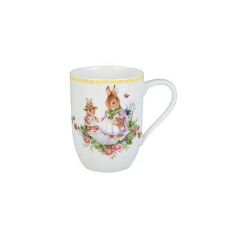 Spring Awakening mug Bunny Family, 340 ml, yellow/multicoloured