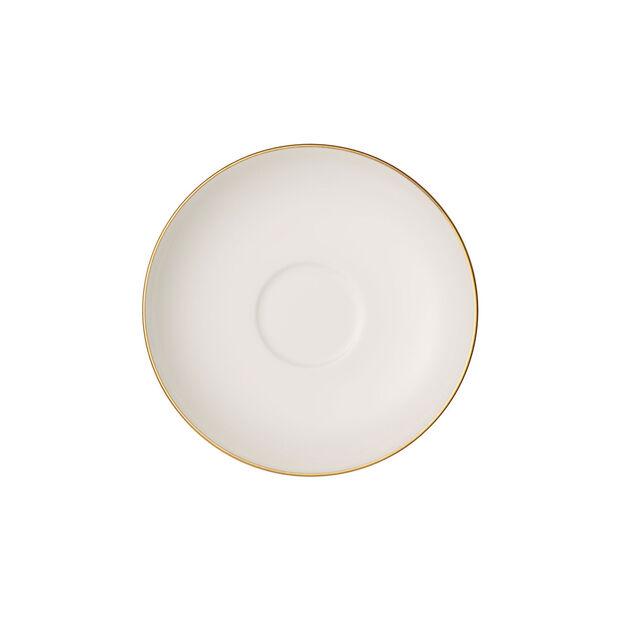 Anmut Gold mocha/espresso cup saucer, 12 cm diameter, white/gold, , large
