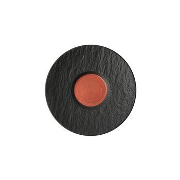 Manufacture Rock Glow coffee cup saucer, copper/black, 15.5 x 15.5 x 2 cm