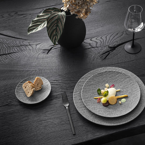 Manufacture Rock Granit dinner plate, coupe, 27 cm, Grey, , large