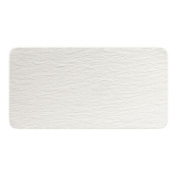 Manufacture Rock Blanc rectangular serving plate, white, 35 x 18 x 1 cm