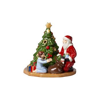 Christmas Toy's lantern distributing presents, multicoloured, 15 x 14 x 14 cm