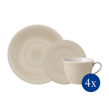 like. by Villeroy & Boch Color Loop Sand coffee set 12 pieces