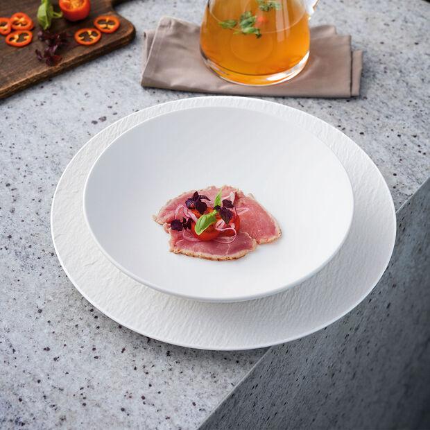 Manufacture Rock Blanc flat bowl, , large