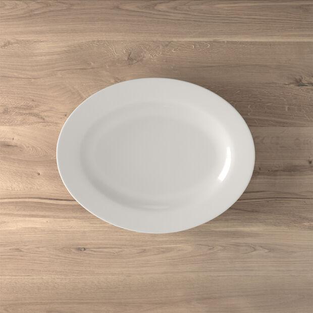 Twist White Oval platter (3) 34cm, , large