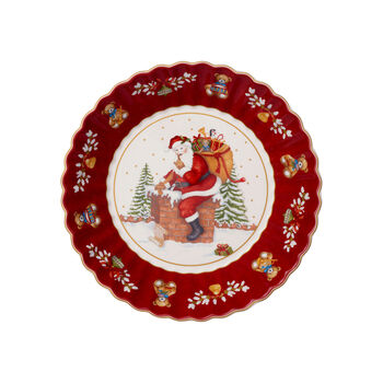 Toy's Fantasy large bowl Santa on roof, red/multicoloured, 25 x 25 x 5 cm