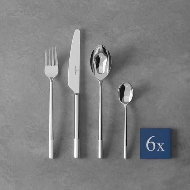 Ella satin Cutlery set 24pcs 42x27x5cm, , large