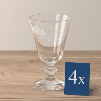 Old Luxembourg red wine glass, 4 pieces