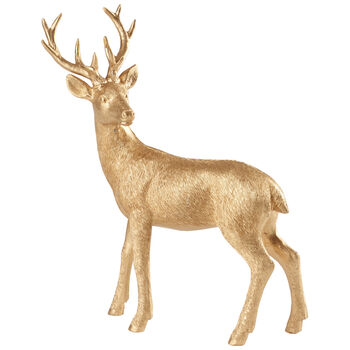 Winter Collage Accessoires Deer standing gold 22cm