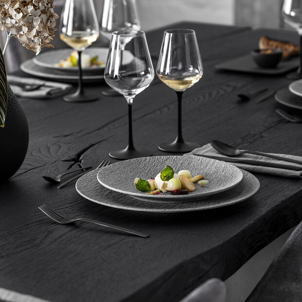 Manufacture Rock Granit breakfast plate, 22 cm, Grey, , large