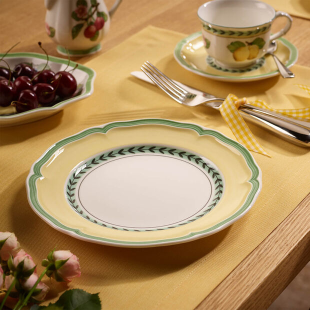 French Garden Vienne breakfast plate, , large